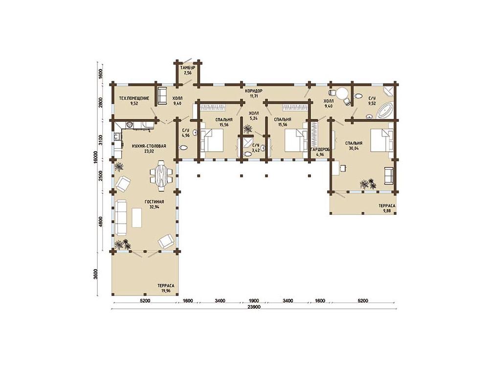 Дом «Византия» (брус)