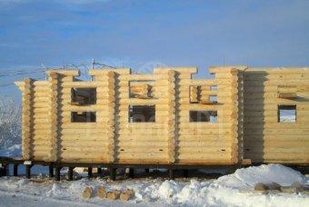 Стены из оцилиндрованного бревна на Ямале