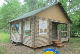 Дом из оцилиндрованного бревна на Агро Омск 2015