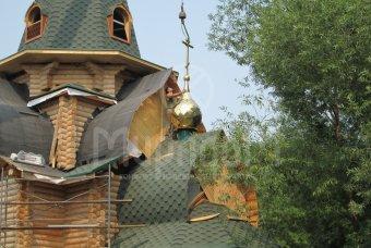 Ход строительства церкви «Преподобного Алексия» в п. Пушкино