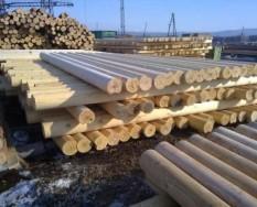 Производство оцилиндрованного бревна в Красноярске